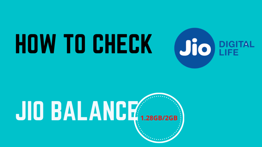 HOW TO CHECK NET BALANCE IN JIO