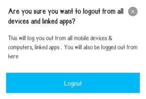 how to logout from paytm